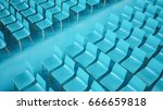 chair rows  3d illustration   Shutterstock . vector #666659818