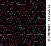 geometric random lines pattern. ... | Shutterstock .eps vector #666662716