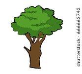 cartoon tree plant natural... | Shutterstock .eps vector #666663742