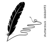 black and white feather and... | Shutterstock .eps vector #66666493
