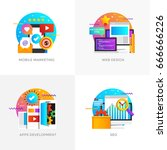 modern flat color designed... | Shutterstock .eps vector #666666226