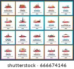 travel template banners for... | Shutterstock .eps vector #666674146