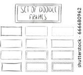 frames cute cartoon doodle... | Shutterstock .eps vector #666680962