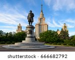 main building of moscow state... | Shutterstock . vector #666682792