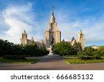beautiful perspective of main... | Shutterstock . vector #666685132