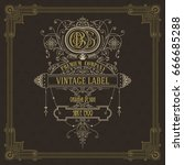 old vintage card with floral... | Shutterstock .eps vector #666685288