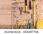 set of construction tools  on... | Shutterstock . vector #666687766