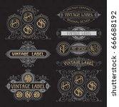old vintage floral elements  ... | Shutterstock .eps vector #666688192