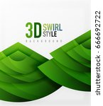 swirl and wave 3d effect... | Shutterstock .eps vector #666692722