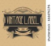 vintage typographic label... | Shutterstock .eps vector #666696196