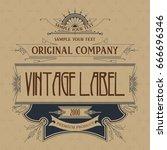vintage typographic label... | Shutterstock .eps vector #666696346