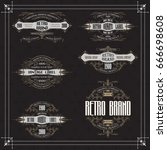 vintage typographic label... | Shutterstock .eps vector #666698608