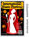 music poster for jazz band live ... | Shutterstock .eps vector #666699322