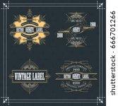 vintage typographic label... | Shutterstock .eps vector #666701266