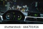 modern sports car dashboard...