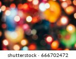 abstract colorful bokeh... | Shutterstock . vector #666702472