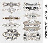 old vintage floral elements  ... | Shutterstock .eps vector #666703858
