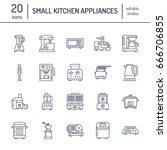 kitchen small appliances line... | Shutterstock .eps vector #666706855