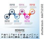 infographics design template... | Shutterstock .eps vector #666712102