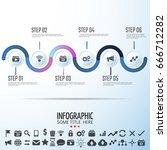 infographics design template... | Shutterstock .eps vector #666712282