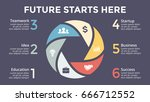 vector circle arrows... | Shutterstock .eps vector #666712552