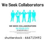 business teamwork flyer poster... | Shutterstock . vector #666715492