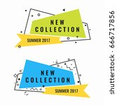 New collection of summer 2017 promotional logotypes set | Shutterstock vector #666717856