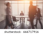 startup business  young... | Shutterstock . vector #666717916