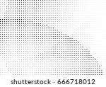 abstract halftone dotted... | Shutterstock .eps vector #666718012