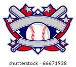a dynamic baseball template... | Shutterstock .eps vector #66671938