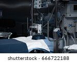 equipped operating room in... | Shutterstock . vector #666722188