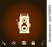 cinema camera simple vector...
