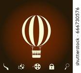 air balloon simple vector icon. ...