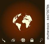 globe earth simple vector icon. ...