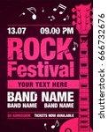 vector rock festival flyer... | Shutterstock .eps vector #666732676