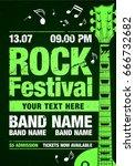 vector rock festival flyer...   Shutterstock .eps vector #666732682
