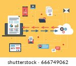 cloud computing and financial... | Shutterstock .eps vector #666749062
