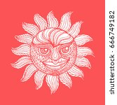 sun illustration vector icon. | Shutterstock .eps vector #666749182