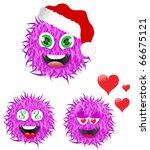 set of smilies | Shutterstock .eps vector #66675121
