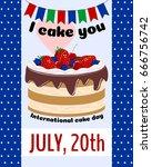 international cake day design... | Shutterstock .eps vector #666756742
