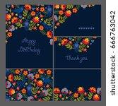 corporate identity. set of... | Shutterstock .eps vector #666763042