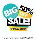 big sale banner. vector... | Shutterstock .eps vector #666766996