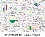 math education vector pattern... | Shutterstock .eps vector #666779686