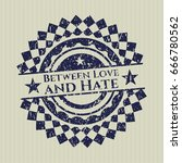 blue between love and hate... | Shutterstock .eps vector #666780562
