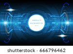 abstract technology background... | Shutterstock .eps vector #666796462