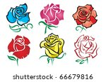 set of roses | Shutterstock .eps vector #66679816