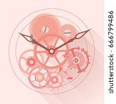 the mechanism of automatic...   Shutterstock .eps vector #666799486