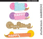 set of diwali banners in two... | Shutterstock .eps vector #666800242