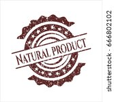 red natural product distressed... | Shutterstock .eps vector #666802102