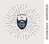 vector badge with beard and ... | Shutterstock .eps vector #666810616
